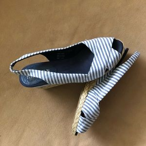 Ralph Lauren Shoes - ⬇️ $25 Ralph Lauren Cassara Striped Wedge Sandal